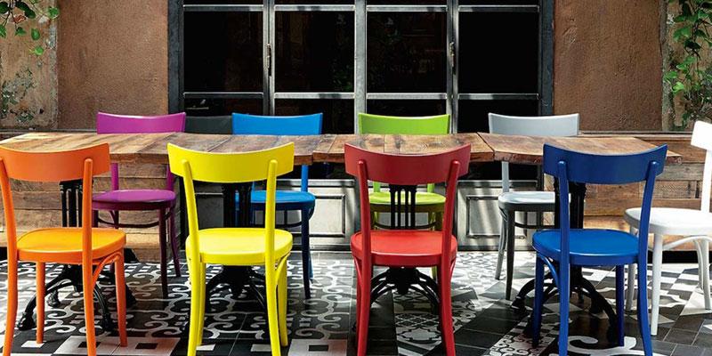 Sedie viennesi in legno offerte e prezzi progetto sedia for Tavolo legno con sedie colorate