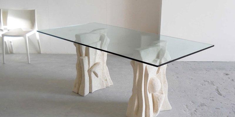 Tavoli fissi di design moderno in legno vetro metallo for Tavoli moderni in vetro
